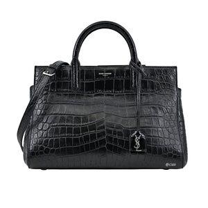 Saint Laurent Medium Cabas Rive Gauche Leather Bag